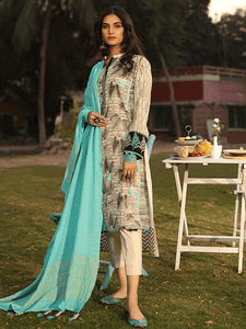 Lakhany Textured lawn Embroidered spring collection 3pc Suit SLC-3015