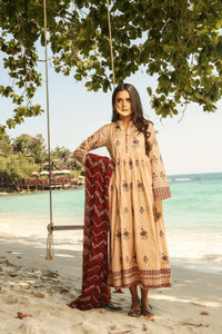 Lakhany Luxe Embroidered Lawn 2020 3Pcs Suite MEC-2023