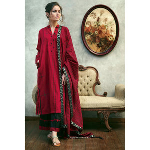 Printed Jacquard Unstitched 3 Piece Suit MJ-23