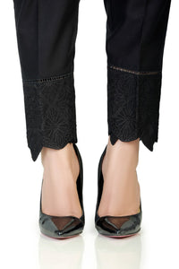 LSM Embroidered Stitched Trousers S20-TR-07 - Black
