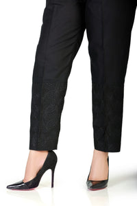 LSM Embroidered Stitched Trousers S20-TR-05 - Black