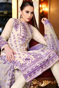 GUL AHMED FESTIVE EID PREMIUM EMBROIDERED CHIFFON COLLECTION UNSTITCHED SUIT PM-197