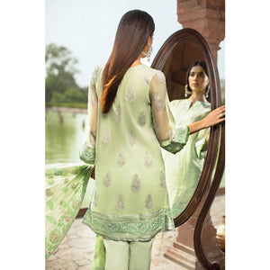 Embroidered Chiffon Unstitched 3 Piece Suit PM-240