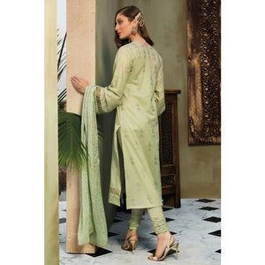 Embroidered Jacquard Unstitched 3 Piece Suit PM-277