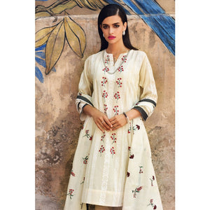 Embroidered Cotton Unstitched 3 Piece Suit PM-309
