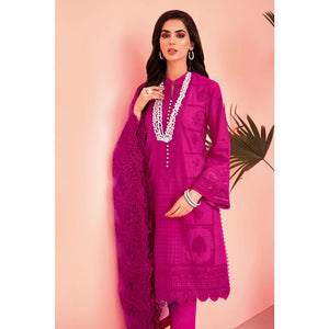 Embroidered Jacquard Unstitched 3 Piece Suit Suit PM-314
