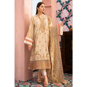 Embroidered Jacquard Unstitched 3 Piece Suit PM-323