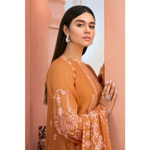 Embroidered Chiffon Unstitched 3 Piece Suit PM-324