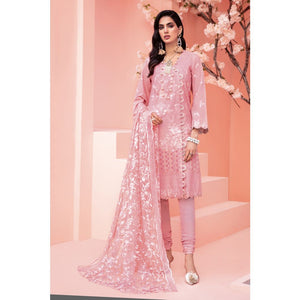 Embroidered Jacquard Unstitched 3 Piece Suit PM-331