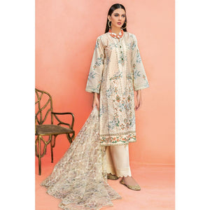 Embroidered Jacquard Unstitched 3 Piece Suit PM-335