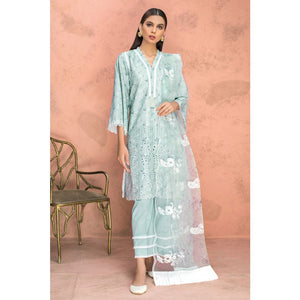 Embroidered Schiffli Unstitched 3 Piece Suit PM-338