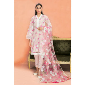Embroidered Jacquard Unstitched 3 Piece Suit PM-339