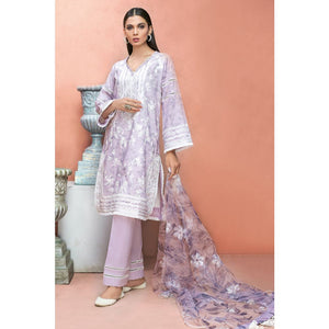 Embroidered Jacquard Unstitched 3 Piece Suit PM-341