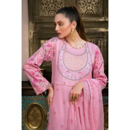 Embroidered Jacquard Unstitched 3 Piece Suit PM-348