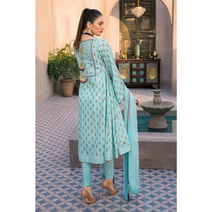 Embroidered Jacquard Unstitched 3 Piece Suit PM-349
