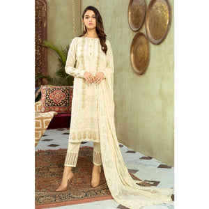 Embroidered Jacquard Unstitched 3 Piece Suit PM-352