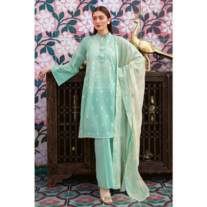 Embroidered Jacquard Unstitched 3 Piece Suit PM-354