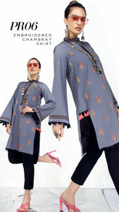 Gul Ahmed Kaaj 01 Piece Stitched Shirt PR-06