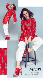 Gul Ahmed Kaaj 01 Piece Stitched Shirt PR-193