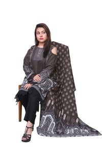 ZS Textile Salina Khaddar Printed Stitched 3 Piece Suit SKP5-012