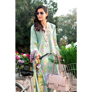 Digital Printed and Embroidered Unstitched 3 Piece Suit SSM-34