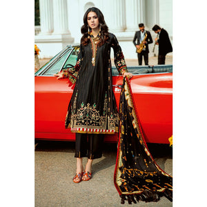 Embroidered Zari Unstitched 3 Piece Suit SSM-37