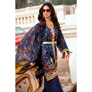 Embroidered Zari Unstitched 3 Piece Suit SSM-40