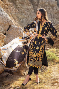 3PC Unstitched Lawn Embroidered Suit With Digital Printed Tissue Silk Dupatta SSM-59
