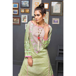 Gul Ahmed Embroidered Cambric Unstitched 2 Piece Suit TCE-37 - Light Green