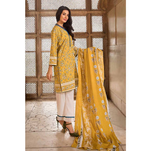 Gul Ahmed Printed Cambric Unstitched 2 Piece Suit TCN-44 B - Yellow