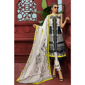 Gul Ahmed Printed Cambric Unstitched 2 Piece Suit TCN-47 B - White