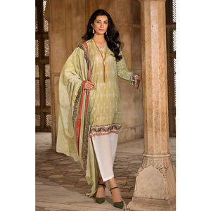Gul Ahmed Printed Cambric Unstitched 2 Piece Suit TCN-48 B - Light Green