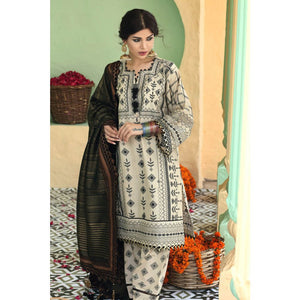 Embroidered Lawn Unstitched 3 Piece Suit TD-04