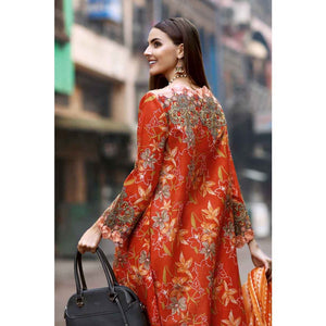 Embroidered Lawn Unstitched 2 Piece Suit TL-199 A