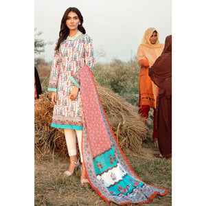 Embroidered Lawn Unstitched 2 Piece Suit TL-246 B
