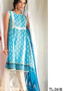 Embroidered Lawn Unstitched 2 Piece Suit TL-261 B