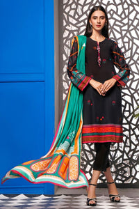2 Piece Unstitched Digital Printed Lawn Suit TLP-12 B