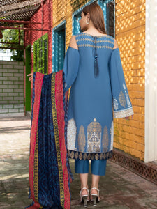 Limelight 3 Piece Unstitched Cambric Suit U-0823