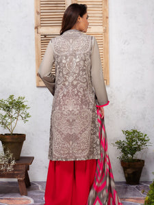 LIMELIGHT 2-PC EMBROIDERED LAWN SUIT U-0874 GREY