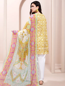 LIMELIGHT 2-PC Unstitched LAWN SUIT U-1182 Yellow