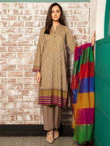 Limelight 2 Piece Unstitched Cambric Suit U-1222SU Beige