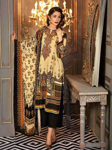 Gul Ahmed Embroidered Velvet Unstitched 3 Piece Suit VL-74