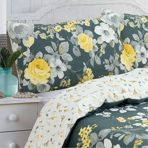 Vantona Alma Duvet Cover Set - Green