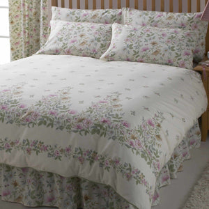 Vantona Country Cottage Garden Quilted Fitted Bedspread - Multi