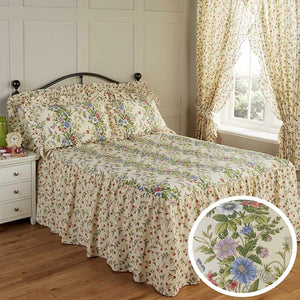 Vantona Country Jessica Quilted Fitted Bedspread - Multi