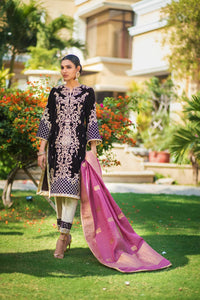 ZS Textile Embroidered Velvet Stitched 3 Piece Suit Z-05