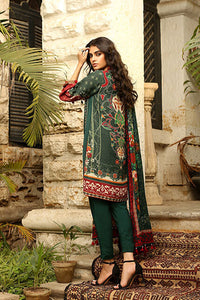 LSM Embroidered Winter Dress AE-6604 A - GREEN