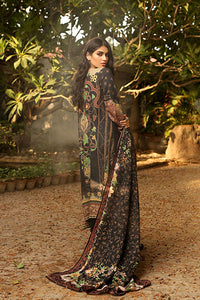 LSM 3PC Stitched Embroidered Winter Dress AE-6604 B - BLACK
