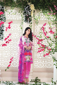 Pink 3 Pc Embroidered Silk AS-16