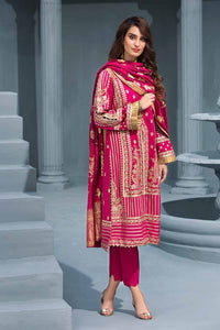 Gul Ahmed Embroidered Khaddar Unstitched 3 Piece Suit AY-08